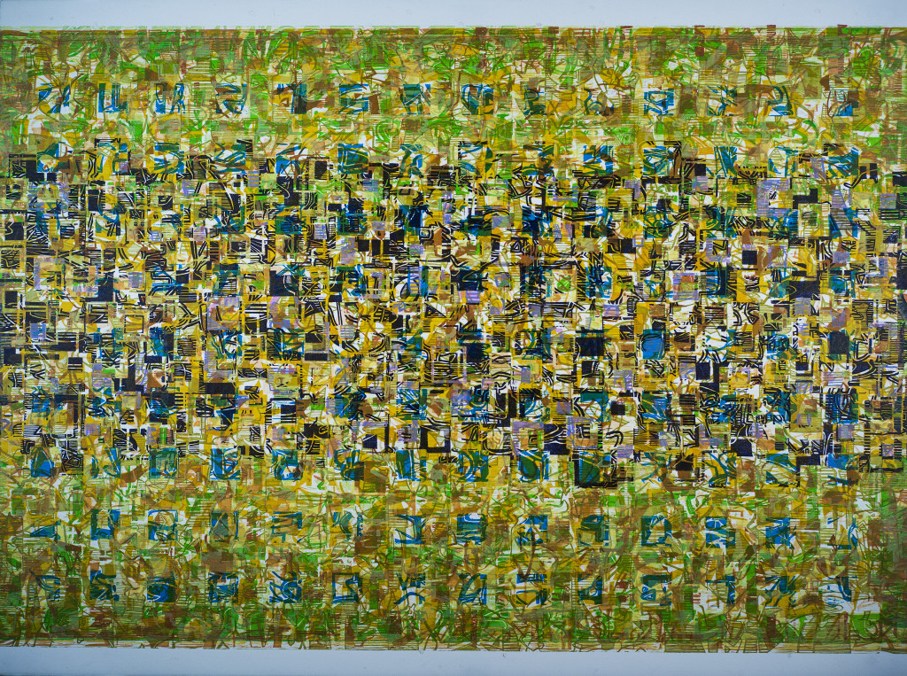 "Color Woodcut, 22"" x 30"", 2015"