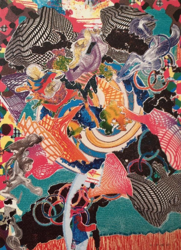 Frank Stella, Juam, mixed media print, 1997
